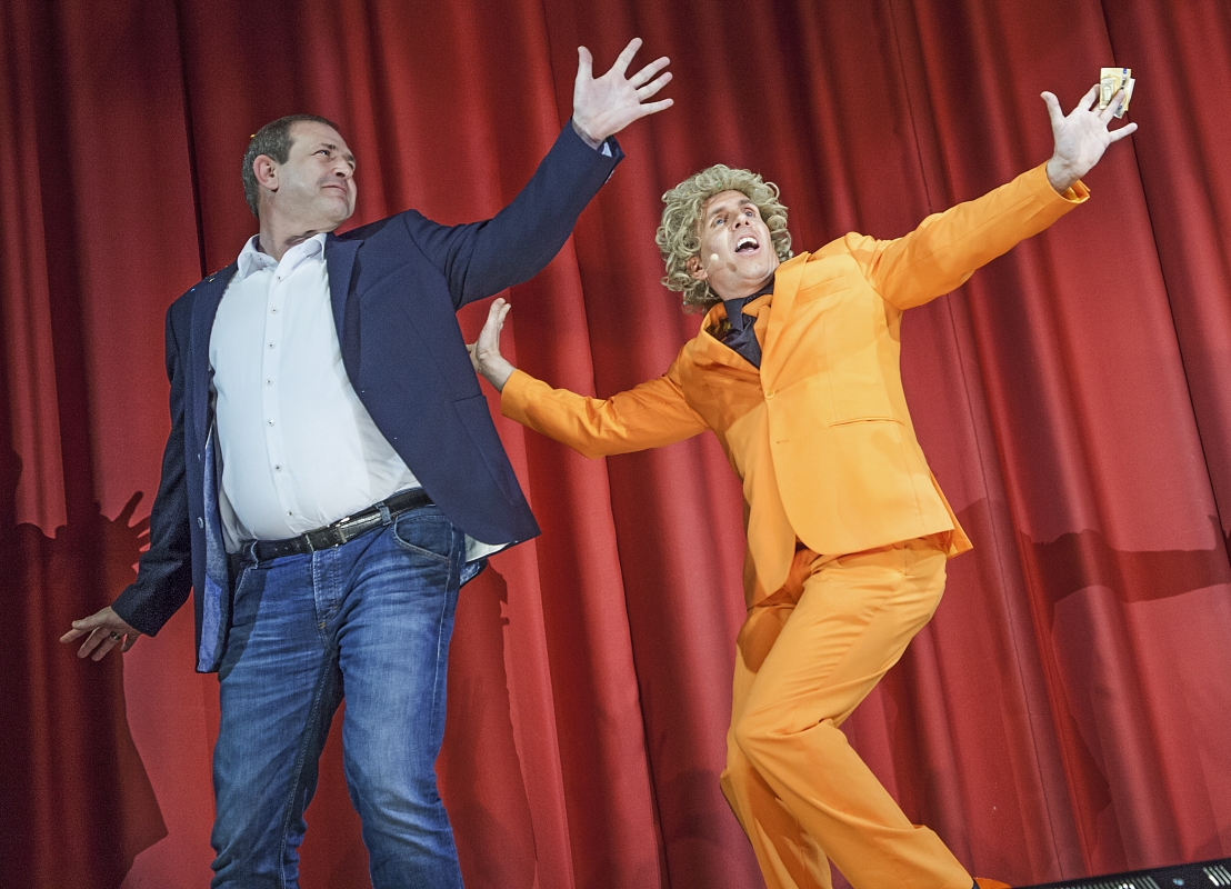 OB Frank Frühauf mit Ted Louis